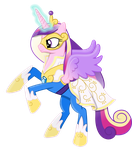 Princess Cadance as a Power Pony by 90Sigma
