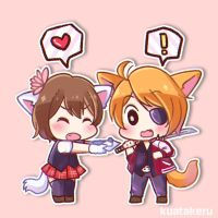 [Vainglory] School Days Taka x Koshka by kuatakeru