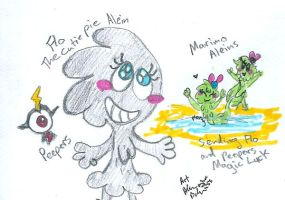 peepers Flo and Marimo people by Kittychan2005