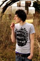 Pirate Ship Grey Tee by DeathByDesign06