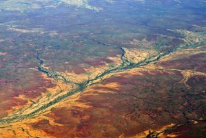 Flying over central Australia 3 by wildplaces