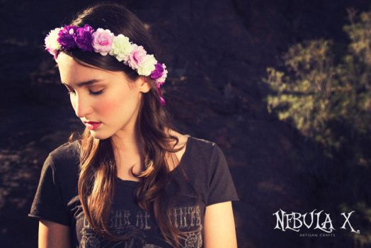 -:Small Purple and White Flower Crown:- by CarolineSuominen