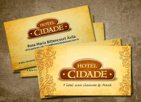 Hotel Cidade Business Card by tutom