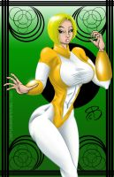 Power Girl Yellow Costume by RCBrock