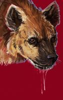 Hyena business by impalae