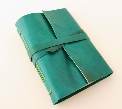 Green Leather Journal by GatzBcn