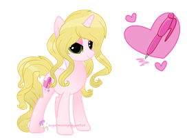 Wish Shimmer (me as a pony) by SugarMoonPonyArtist