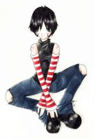 Random stripey girl by shishah