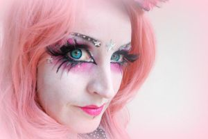 Pink gothic make-up by S-T-A-R-gazer