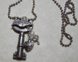 Antique Key with Crystal by mymysticgems