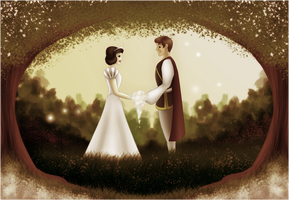 Disney Weddings: Snow White and Prince by Valvador