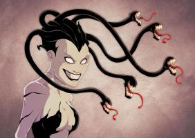 Medusa with venom hair full digital by Anny-D