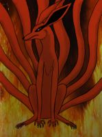 The Nine Tailed Fox by redwolf18blue