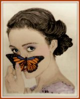Emmy and the Butterfly Colorized by SHParsons