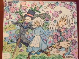 Howl's Moving Castle: Sophie's Flower Garden  by GhibliLover92