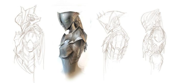 Helmet Sketches by ClintCearley