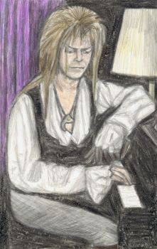 Goblin King playing piano by gagambo