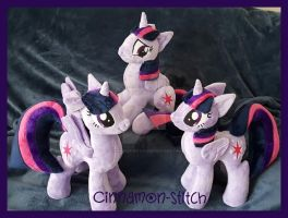 mlp Plushie Twilight Sparkle Group photo by CINNAMON-STITCH