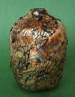 Gold Leaf Polymer Clay Vase by MandarinMoon