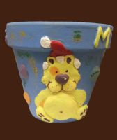 Ted Christmas Flower Pot by Anita-Sanderson