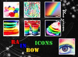 Rainbow Icons 01 by bluezircon-graphics