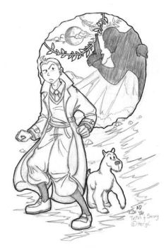 Tintin and Milou by persimmon