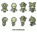 Game boy style characters by moramill