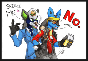 Bloody naughty spies by danwolf15