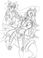 Vexing Gears Promo Tenri and Lorelei by FlairNightz