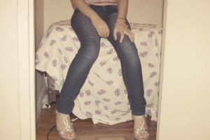 Blue jeans and high heels by DamaTheRoyalSpaz