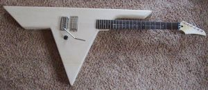 Van Halen logo guitar before paint! by lryvan