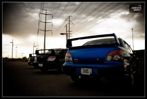Crowd of STI's by TK-Designs