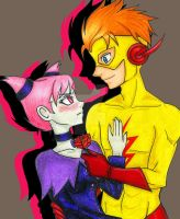 Jinx and Kidflash by manu-chann