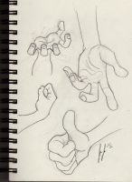 Hand studies by jEROMEaNIMATIONS