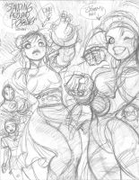 STREET FIGHTER rough 4 by AdamWarren