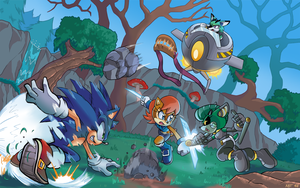 Sonic Coloring Commission by ElainaUnger