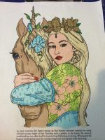 The Unicorn and The Maiden by VISIONARYGirl