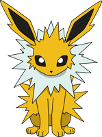 Jolteon Sitting PNG by ProteusIII