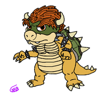Bowser (Flat Colors) by uhnevermind