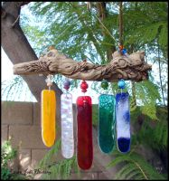 Driftwood and Glass Windchime by Beadworx