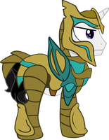 Vector Ponyhkiin Barrfind in glass armor by Barrfind