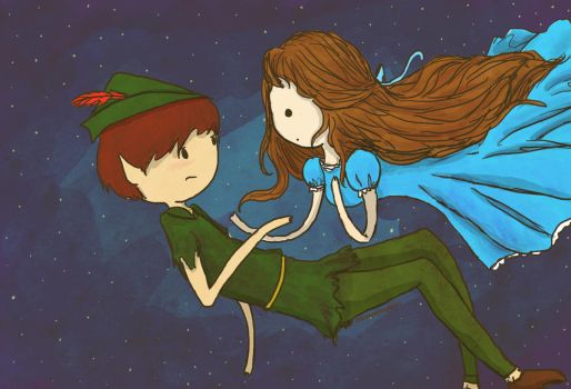 peter pan and wendy by hannuss