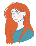 Merida with straight hair by xCandySlice