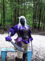 Drow in the Fae Woods by FantasyBri