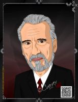 Christopher Lee by Cuervex
