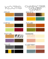 Koji's Character Colors Chart by k-o-j-i