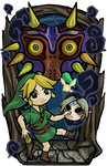 Majora's Mask in Wind Waker Style by Ranefea