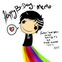 Omg, Happy Birthday, Memo. by MagicalSockOfMagic