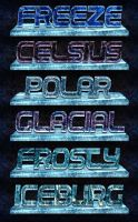 Ice Crystals Photoshop Styles by xstortionist