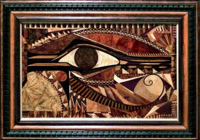 Wedjat Marquetry by Meddling-With-Nature